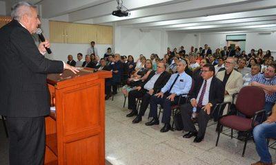 Candidatos a Rector y Vicerrector de la  UNE presentaron propuestas