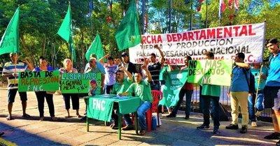 Caaguazú: Campesinos anuncian marchas