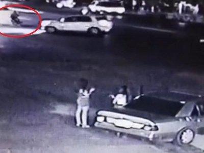 Revelan video del choque que derivó en golpiza a automovilista