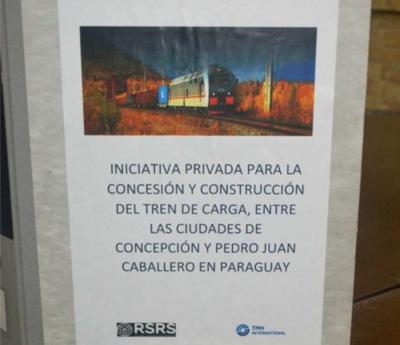 Fepasa recibe propuesta para construcción de tren de cargas entre Concepción y Pedro Juan Caballero