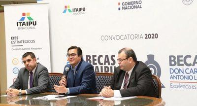 Itaipú lanza 2.000 becas para egresados de colegios