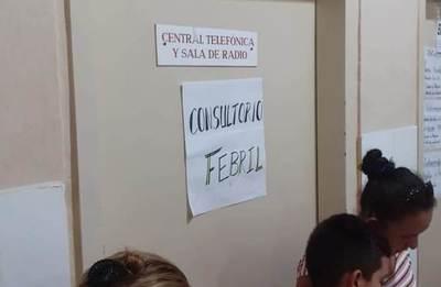 Evacuan de urgencia a paciente con dengue