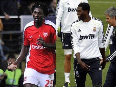 Los elogios de Mourinho, Guardiola y Wenger para Adebayor