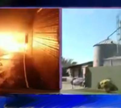 Incendio de gran magnitud consume deposito en Mariano Roque Alonso