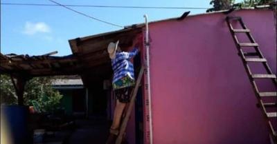 Abue fue cachada  pintando su casa y  se hizo famosa