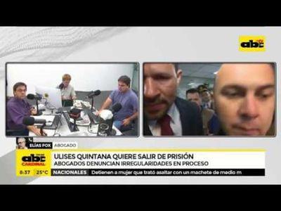 Ulises Quintana quiere salir de prisión