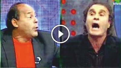 Feroz pelea entre Cabañas y Ruggeri en la Tv Argentina (Vídeo)