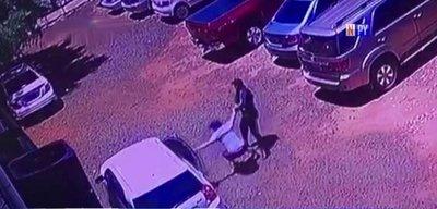 Así evitó un guardia que tortoleros roben un vehículo