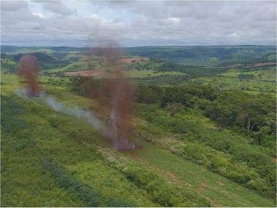 Destruyen otra pista clandestina en Amambay