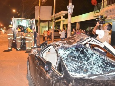 Cuádruple choque deja un herido en Asunción
