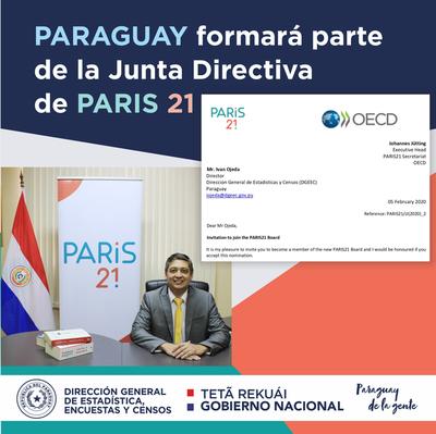Paraguay representará a Sudamérica en la Junta Directiva de Paris 21