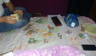Incautan millonaria suma de dinero durante allanamiento