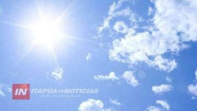 PRONOSTICAN  TEMPERATURAS MUY CALUROSAS EN TODO EL PAÍS