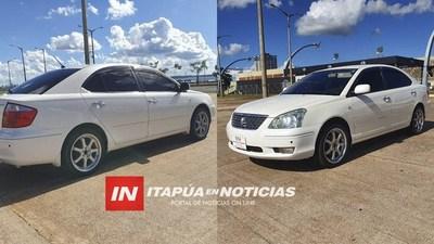 HURTAN AUTOMÓVIL EN EL CENTRO DE CNEL. BOGADO