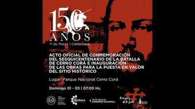 El 20 comienzan los actos por el 150º aniversario de la batalla de Cerro Corá