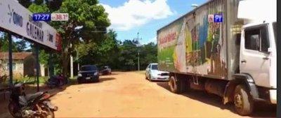 Exempleado habría asaltado a camión distribuidor de productos