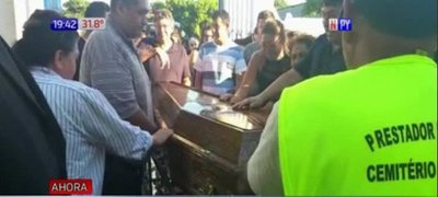 La despedida a periodista asesinado en Pedro Juan