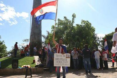 Ciudadanos siguieron la sesión desde la Plaza de Armas