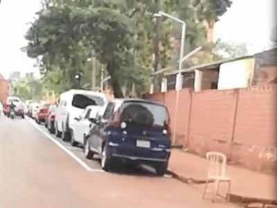 Comienzan marcación de zonas de estacionamiento tarifado