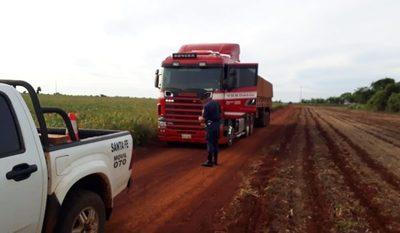 Recuperan camión denunciado como robado