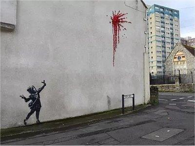 Banksy regala un nuevo mural a Bristol por San Valentín