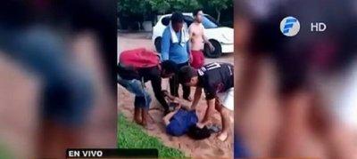 Justicia por mano propia: Vecinos detienen a presunto ladrón