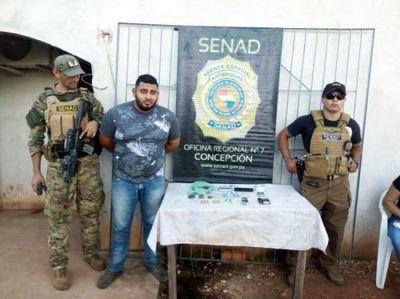 SENAD detuvo a joven microtraficante de drogas en Concepción