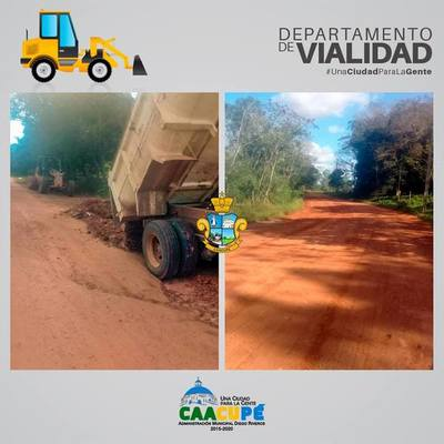 Municipalidad repara caminos desde Ytú hasta Ypucú