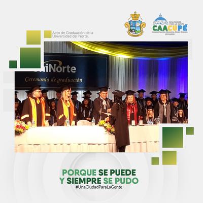 Intedente de Caacupé es Invitado de Honor en Graduación de Prestigiosa Universidad