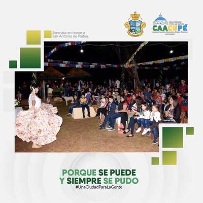 Barrios Caacupeños celebran a San Antonio de Padua con Serenata
