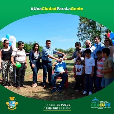 Se inaugura el alambrado del CLub Sportivo Barrio Loma