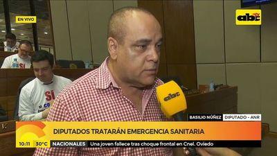 Diputados tratarán emergencia sanitaria