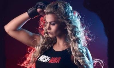 Modelo y Luchadora brasileña fanática del Olimpia