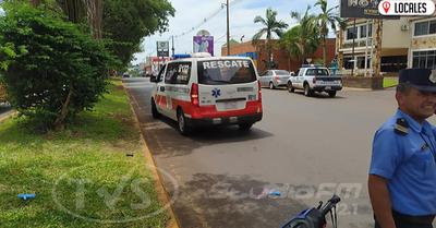 Motociclista y peatón protagonizan accidente de tránsito en Encarnación
