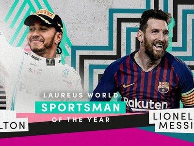 Messi y Hamilton comparten el premio Laureus en Berlín