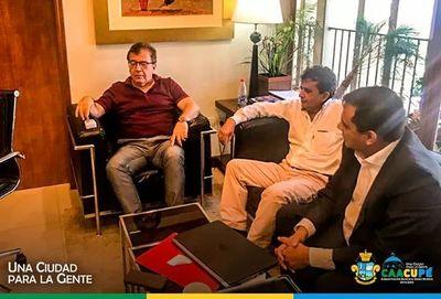 Autoridades se reunen con el Director de Yacyreta Nicanor Duarte Frutos