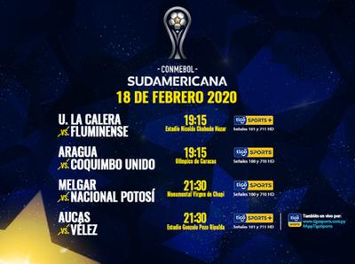 Partidos que definen se juegan por la Sudamericana