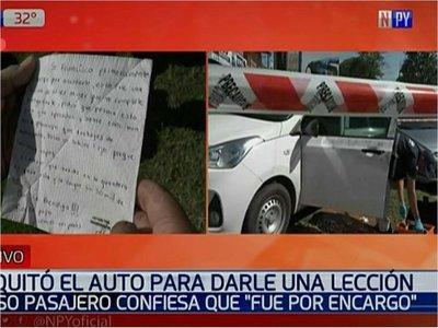 """Confuso episodio de asalto: Roban un auto para """"dar una lección"""""""