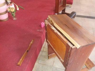 Intentaron robar objetos de valor del templo parroquial de Horqueta
