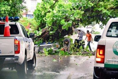 Fuerte temporal en Encarnación deja varios daños materiales » Ñanduti
