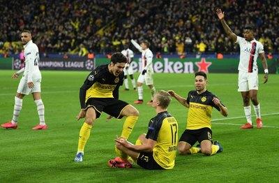 Dortmund saca ventaja ante el PSG en la Champions