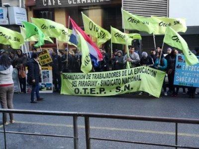 OTEP anuncia movilizaciones para marzo y abril