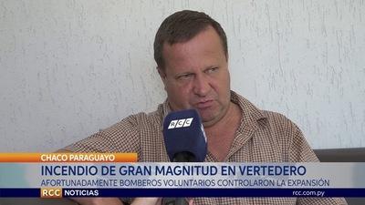 INCENDIO DE GRAN MAGNITUD EN VERTEDERO MUNICIPAL DE FILADELFIA