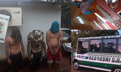 Atrapan a delincuentes que asaltaron a pasajeros de un bus