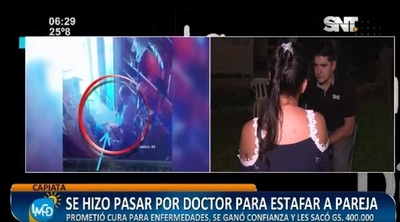 Hombre se hizo pasar por médico y estafó a una pareja, denuncian