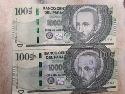 Alertan sobre circulación de billetes falsos de G. 100.000
