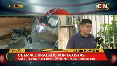 Testigo relata cómo taxistas acorralaron a conductor de Uber