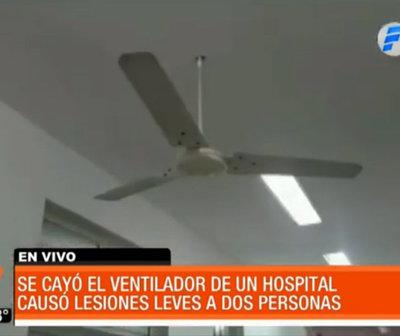 Ventilador cayó sobre pacientes de un hospital