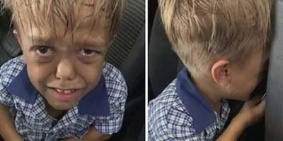 Bullying: el desgarrador llanto de un chico con enanismo al salir del colegio