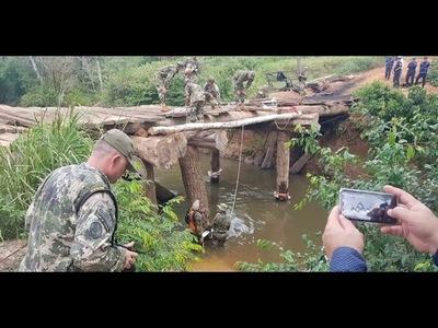 DESTRUYEN PUENTES Y CAMINOS PARA FRENAR DEPREDACIÓN DE LA RESERVA MOROMBI